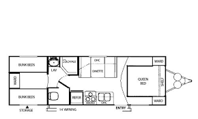 cikira retro lite small travel trailer floorplans floor plans