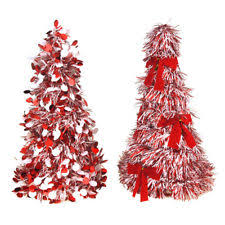tinsel tree artificial tinsel christmas undecorated unlighted trees ebay