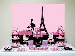 printable pink paris themed baby shower backdrop digital