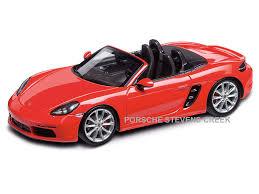 model porsche boxster porsche boxster s 718 diecast model car 1 43 scale lava orange