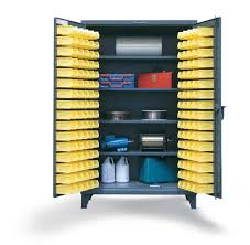 Yellow Storage Cabinet Strong Hold Products Bin Storage Cabinet With Shelves
