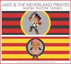 jake neverland pirates birthday party printable water