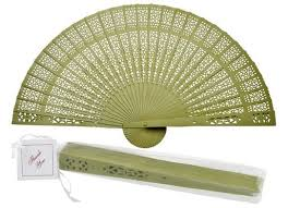 buy paper fans in bulk 8 chartreuse chinese folding wood panel hand fan w white organza