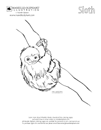 manelle oliphant illustration free coloring page friday sloth