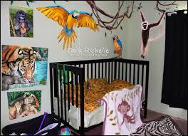 rainforest jungle theme baby nursery toddler room tiger