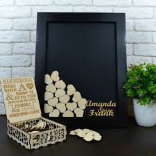 black wedding guest book wedding guest picture frame to sign choice image craft