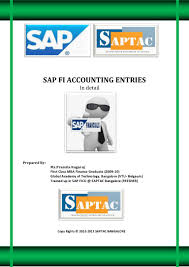 sap fi accounting entries