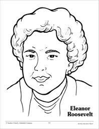 Eleanor Roosevelt Clip Art Clipart Eleanor Roosevelt Coloring Pages