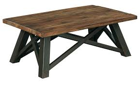 Coffee Table With Metal Base by Crossfit Rectangular Coffee Table With Solid Acacia Top And Rustic