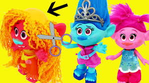 trolls go bald poppy u0026 branch visit new maddy doll hair salon