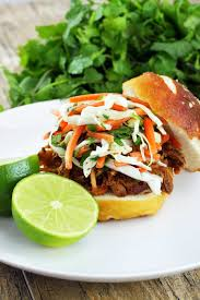 thai style pulled pork sandwiches slow cooker