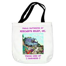 rescuer u0027s relief ferret tote bag u2013 mandys moon personalized gifts