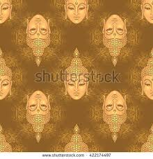 Decorative Buddha Head Buddha Face Graphic Vector Stock Images Royalty Free Images