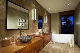 glossy marble flooring of bathroom area with marvelous long narrow
