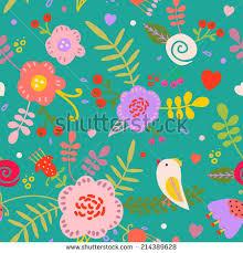 garden inspired wallpaper design stock vector 181368437 shutterstock