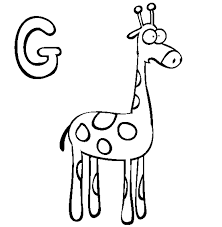 download giraffe coloring pages alphabet g or print giraffe