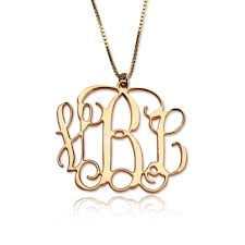monogram necklaces 18k gold plated monogram necklace monogram necklaces
