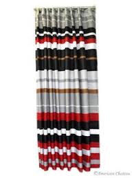 Black And White Vertical Striped Shower Curtain Black And Red Chevron Shower Curtain Red Bathroom Accessories