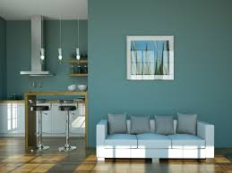 wall colour combination for small living room blue and grey