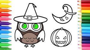 halloween moon pumpkin owl coloring pages children u0027s coloring