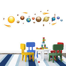 nursery wall decals for kids nursery mount wall decals solar system on wall