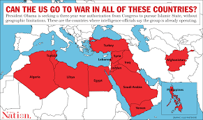 Map Request If Congress Passes Obama U0027s War Request It Authorizes Operations