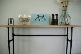 Industrial Console Table How To Build A Rustic Table Using Galvanized Pipes Industrial