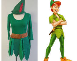 Tinkerbell Peter Pan Halloween Costumes Upcycled Peter Pan Costume Custom Silvermist Water Fairy