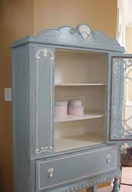 blue u0026 white vintage china cabinet hometalk