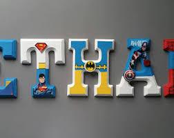Toddler Superhero Bedroom Superhero Wall Decor Etsy