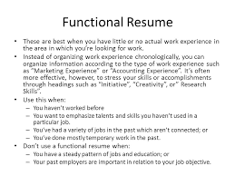 Best Functional Resume by The Résumé A Resume Tailored To Fit The Job You Are Applying For