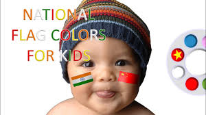 Baby Flag Learn National Flag Colors With Baby Face Painting Cute Baby
