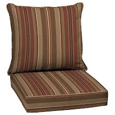 Lowes Allen And Roth Outdoor Furniture - shop allen roth chili glenlee stripe cushion for deep seat chair