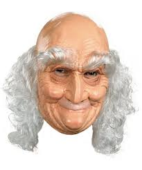 old man halloween mask costume mask