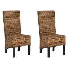 wicker dining room chairs safavieh pembrooke wicker dining side chairs natural set of 2