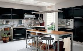 kitchen table island combination kitchen modern black and grey metal combination with wooden