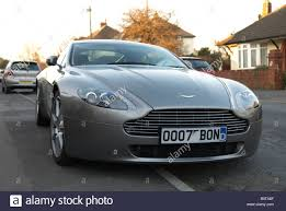 aston martin vintage james bond aston martin vantage 007 bond car number plate stock photo