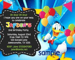 donald duck birthday party invitation ideas u2013 bagvania free
