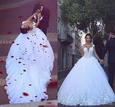 2017 vintage tulle ball gown wedding dress v neck lace 3d floral