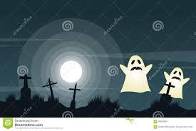 halloween background with graveyard landscape stock vector image