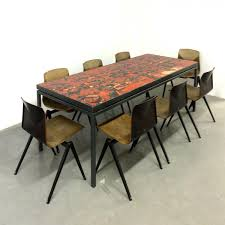 Handmade Dining Room Table Handmade Dining Table With Tile Top By Wilhelm And Elly Kuch 1967