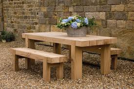 the outdoor oak table handcrafted by indigo furniture