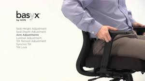 Basyx Office Furniture by Hvl721 Basyx By Hon Chair Functionality Youtube