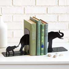 Unusual Bookends Elephant Family Bookends African Decoration Safari Decor