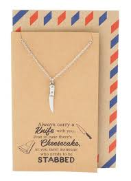 gifts necklace images Maddox best friend gifts cooking jewelry knife necklace funny jpg