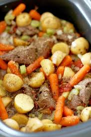 crock pot chunky beef u0026 potato stew the country cook