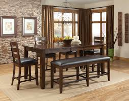 Dining Room Sets Bench by Counter Height Dining Room Set With Bench Bench Decoration
