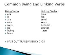linking verbs and being verbs ppt video online download