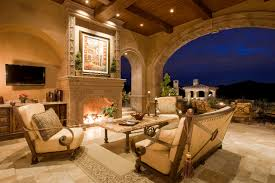 grand fireplaces mediterranean exterior phoenix by