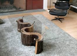 Trunk Bedside Table by Having Tree Trunk Table As Focal Point Furniture Home Furniture